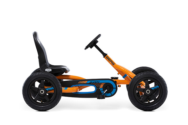 Prachtige BERG Orange go-cart.